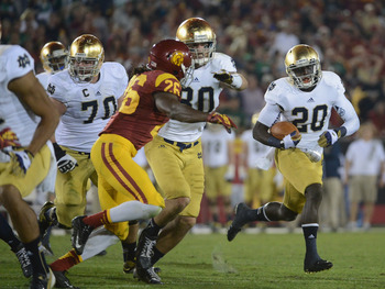 Eifert blocking for Cierre Wood against USC.
