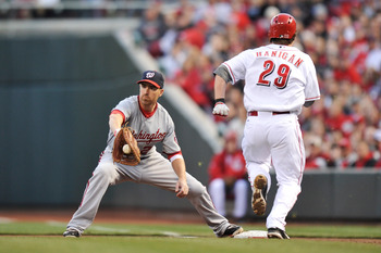 Adam LaRoche is the cornerstone of a solid defensive infield.