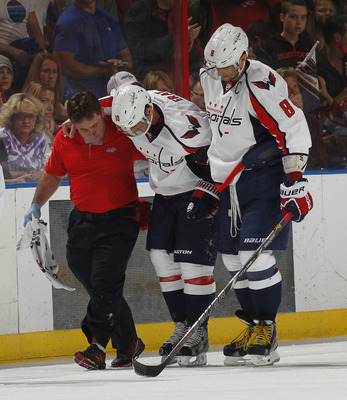 Martin Erat was injured in only his second game with the Washington Capitals, and has not played since.
