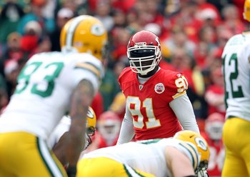 Any pass-rusher would be stuck behind Tamba Hali for at least one season.