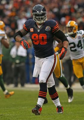 Julius Peppers, a monstrous defensive end signed in 2010, has posted at least eight sacks in each of his three years in Chicago.