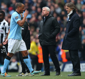 Vincent Kompany and Roberto Mancini are not seeing eye to eye, could he be on his way to Munich?