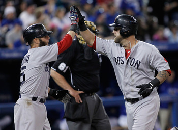 Mike Napoli and Dustin Pedroia were a force against the Blue Jays.