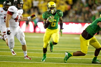 De'Anthony Thomas Rushes for a TD against Arkansas State