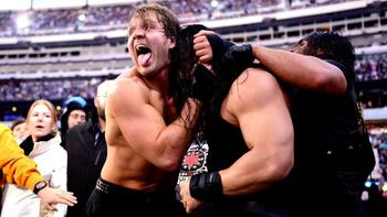 The Shield pick up their first WrestleMania win. Photo by: WWE