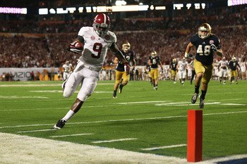 WR Amari Cooper scores an easy touchdown in the BCS National Championship game.
