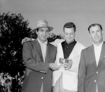 Billy Joe Patton (middle) battles to the end but comes up short in the 1954 Masters