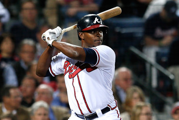 Justin Upton homered in his Braves debut on April 1.