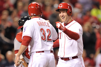 The Reds were all smiles after hitting six home runs against Washington on Friday night.