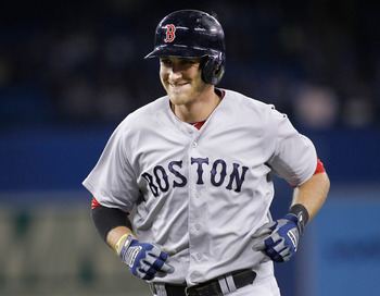 Will Middlebrooks has a big grin after hitting one of his three HRs against Toronto.
