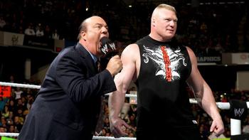 Who will Paul Heyman cheer for in this match? Photo by: WWE