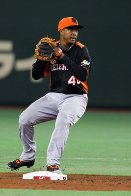 Jonathan Schoop represented the Netherlands in the 2013 World Baseball Classic.
