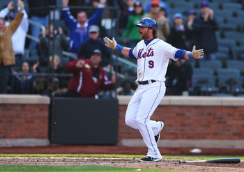 Kirk Nieuwenhuis isn't expected to give Mets fans much to celebrate about this season.