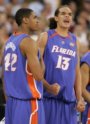 Al Hoford and Florida teammate Joakim Noah.