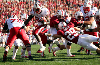 Former Wisconsin running back Montee Ball against Stanford in the Rose Bowl.