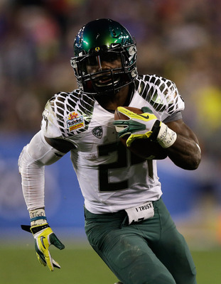 Former Oregon Running back Kenjon Barner in the Fiesta Bowl against Kansas State.