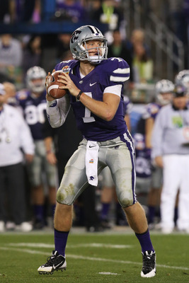 Former Kansas State quarterback Collin Klein against Oregon in the Fiesta Bowl.