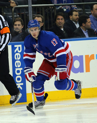 Moore in his first game as a Ranger.