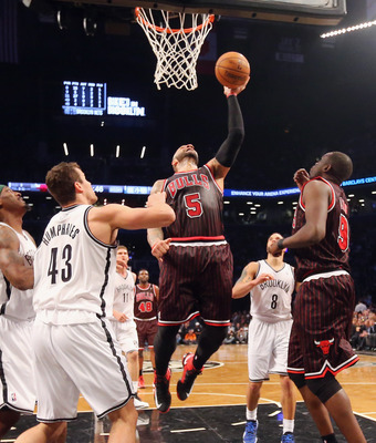 Carlos Boozer dominated Reggie Evans in the Bulls 92-90 win at the Barclays Center last Thursday.