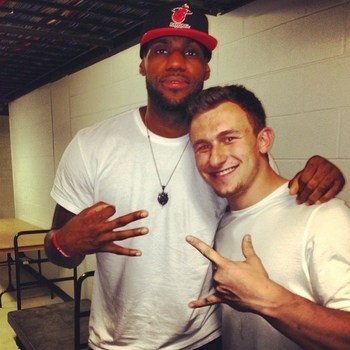 Lebron James and Johnny Manziel / Photo: @JManziel2