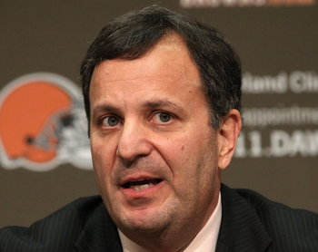 Michael Lombardi is now on the hot seat. Photo courtesy of Thomas Ondrey, The Plain Dealer