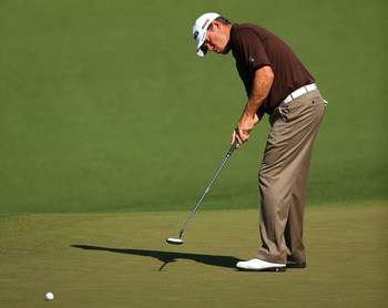 If Lee Westwood plans to claim his first green jacket, his putter will have to heat up considerably.