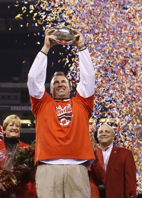 Bret Bielema won back-to-back Big Ten Championship games before leaving Wisconsin for Arkansas.