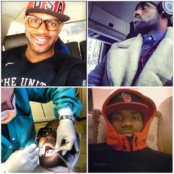 Images via @kingjames [Instagram]