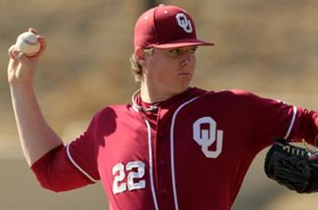 Oklahoma's Jonathan Gray has gone from a Top-15 pick to possibly the No. 1 overall talent in the 2013 MLB Draft. Courtesy of OklaSonnersBlog.com