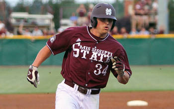 Mississippi State's Hunter Renfroe has shown improved hitting, power and looks more confident at the plate this season. Courtesy of HailState.com