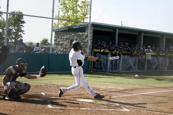 A two-sport athlete in high school, Jake Sweaney has added his name to a strong high school catching crop that already includes Jon Denney and Reese McGuire. Courtesy of BakersfieldCalifornian.com
