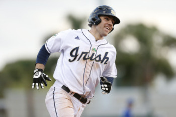 Notre Dame's Eric Jagielo's plus power potential have thrown him into the first-day mix. Courtesy of NDAthleticsBlog.com