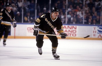 Kevin Stevens with the 1992-1993 Penguins