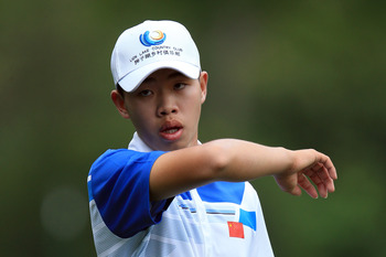 Tianlang Guan, the youngest player to ever play in the Masters, fired a one-over 73 on Thursday.