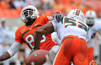 Denzel Perryman is not stranger to laying big hits during the spring game.