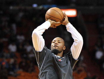 The stroke looks pure in practice, but Rashard Lewis has been iffy in games.