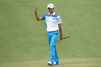 Tianlang Guan is in contention to make the cut after a strong showing on Thursday.