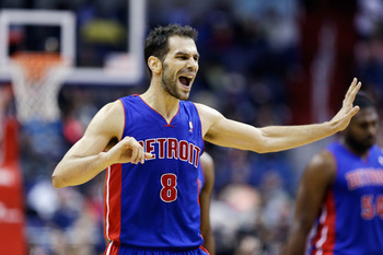 Jose Calderon has been the Pistons' best shooter since being acquired from Toronto.