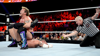 Chris Jericho Putting CM Punk in the Walls of Jericho Submission on Raw (photo courtesy of WWE.com)