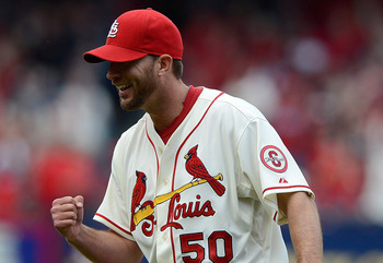 St. Louis Cardinals pitcher Adam Wainwright had one of the best all-around games so far this season against Milwaukee on Saturday.