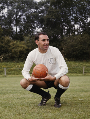 Alan Gilzean of Tottenham Hotspur FC poses for a portrait on 1st June 1967 in Tottenham, London, Great Britain. (Photo by  Don Morley/Getty Images)
