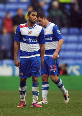 READING, ENGLAND - MARCH 09:  Adrian Mariappa of Reading looks dejected at the final whistle during the Barclays Premier League match between Reading and Aston Villa at Madejski Stadium on March 9, 2013 in Reading, England.  (Photo by Christopher Lee/Gett