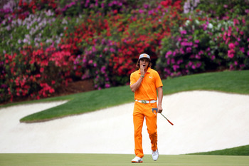 Rickie Fowler obviously still needs more seasoning before he can be a contender at the Masters.