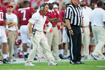 Mistakes on the field lead to an angry Nick Saban.