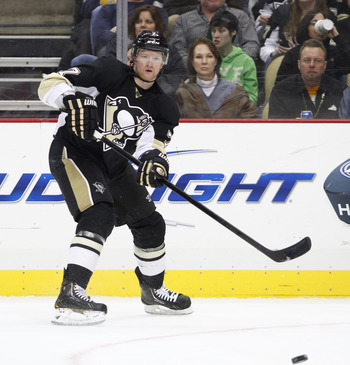 Paul Martin with the Penguins