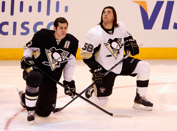 Evgeni Malkin and Kris Letang