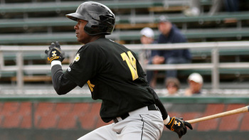 Injuries have robbed Josh Bell of precious playing time, but his ceiling still remains very high. Courtesy of Mark Olson, MiLB.com