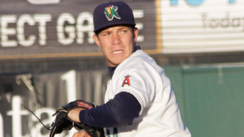 LA's Austin Wood is the most frustrating player to try and figure out. Courtesy of Stevie Pederson, Cedar Rapids Kernels