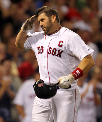 Varitek was a team captain and a beloved player for Boston for many years.