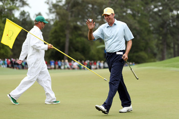 Matt Kuchar was smiling on the fringes of contention Sunday at Augusta.